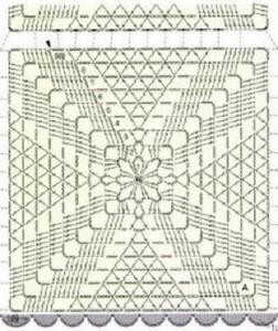 square motif crochet blouse pattern 2