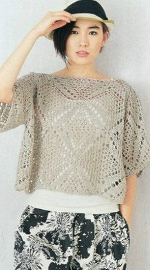 Square Motif Crochet Blouse Pattern ⋆ Crochet Kingdom