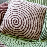 Vortex Crochet Afghan and Pillow