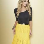 Yellow Crochet Lace Skirt Pattern