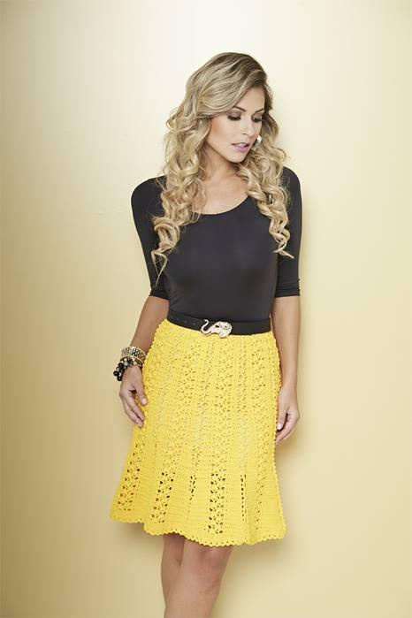 yellow crochet lace skirt pattern  u22c6 crochet kingdom