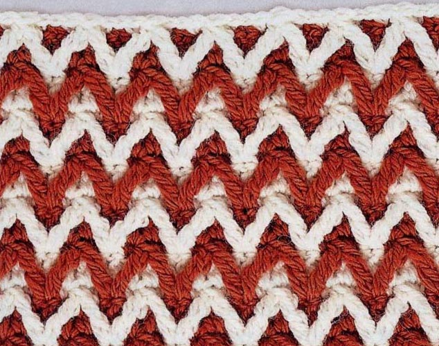 Crocheting Zig Zag Stitch : Little Relief Chevron Crochet Stitch ? Crochet Kingdom