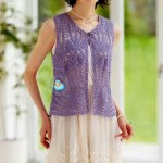 Pineapple Stitch Crochet Vest
