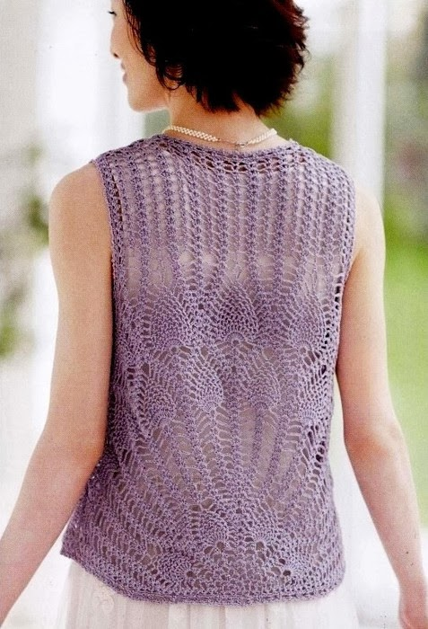 Pineapple Stitch Crochet Vest ⋆ Crochet Kingdom