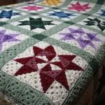 Star Motif Granny Square Bedspread