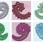 6 Paisley Crochet Motifs