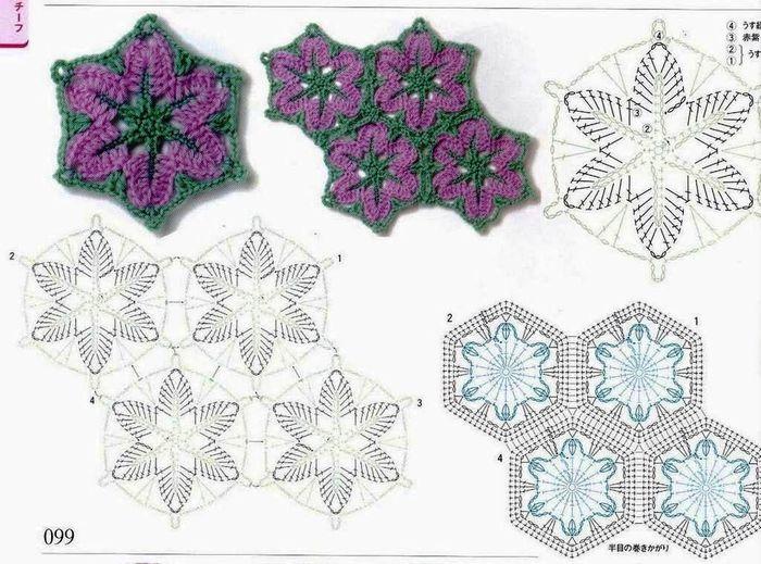 Crochet Flower In A Hexagon Crochet Kingdom