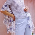 Women's Lace Crochet Shawl Wrap for Spring