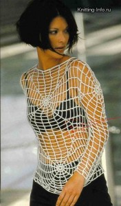 Blouse Crocheted Spider Web