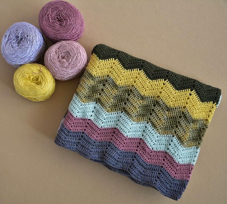 Classic Double Crochet Ripple Blanket Pattern ⋆ Crochet