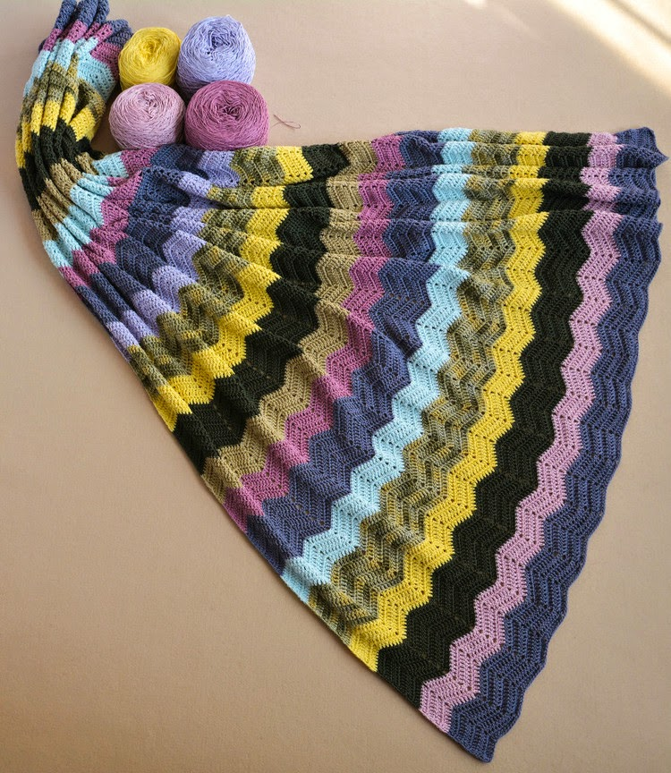 Classic Double Crochet Ripple Blanket Pattern Crochet Kingdom