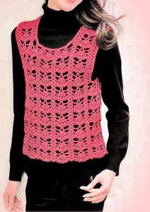 Classic One Piece Crochet Vest