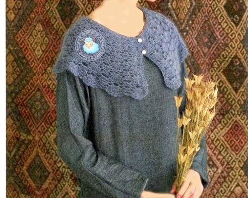 Crochet Collar Cape ⋆ Crochet Kingdom