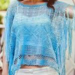 Stylish Crochet Poncho