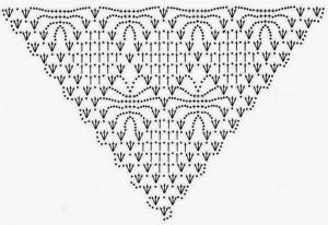 Crochet-Shawl-Pattern diamond squares 1
