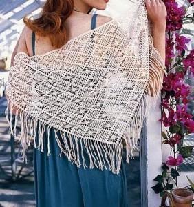 Crochet-Shawl-Pattern diamond stitch