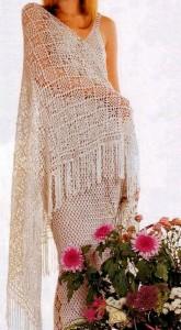 Crochet-Shawl-Pattern square diamon