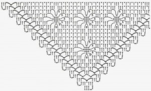 Crochet-Shawl-Pattern square diamond