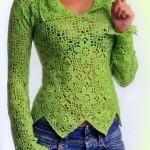 Collared Crochet Sweater Pattern