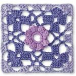 Crochet Granny Flower Diagram