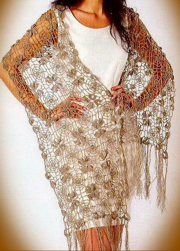 Fine Lace Flower Motif Crochet Shawl Pattern Crochet Kingdom