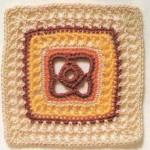 Multi-Colored Crochet Square
