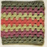 Striped Crochet Square