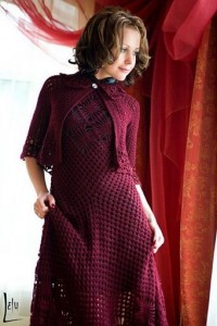 Fishnet Dress and Cape 1