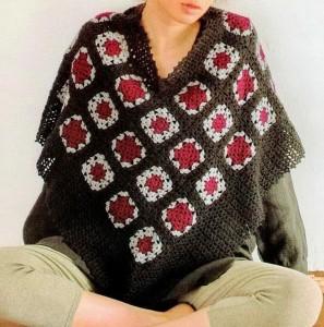 Free Granny Square Crochet Poncho Pattern