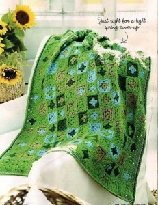 Green Little granny crochet