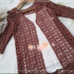 Knitted Jacket Openwork Crochet