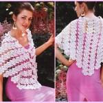 Lace Fan Motif Shawl Crochet Pattern