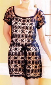 Long Circle Lace Crochet Tunic