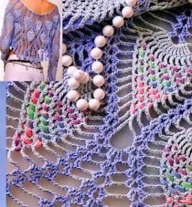 Pineapple Lace Bolero Crochet Pattern 1