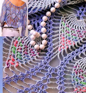 Pineapple Lace Bolero Crochet Pattern ⋆ Crochet Kingdom