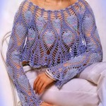 Pineapple Lace Bolero Crochet Pattern