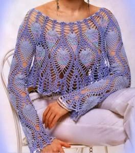 Pineapple Lace Bolero Crochet Pattern