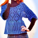 Lace and Pineapple Crochet Lace Sweater