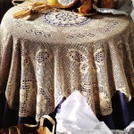Pretty Crochet Tablecloth with Butterflies