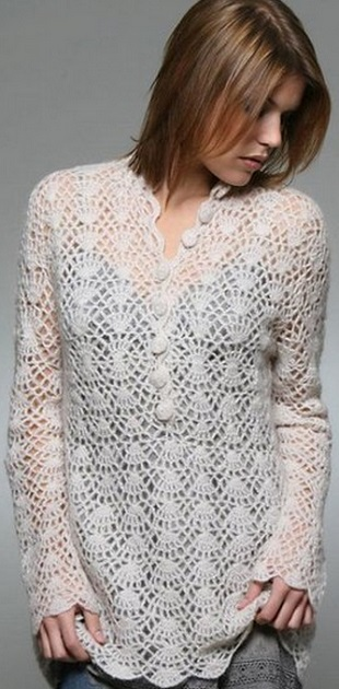 Free Crochet Tunic Pattern For Beginners : White Tunic Crochet Pattern Free ? Crochet Kingdom
