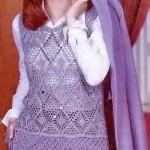 Vest Diamond Stitch Crochet Pattern
