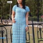 Long Delicate Crochet Dress Pattern