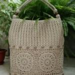 Beige Crochet Bag