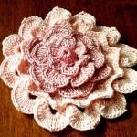 Big Textured Crochet Flower