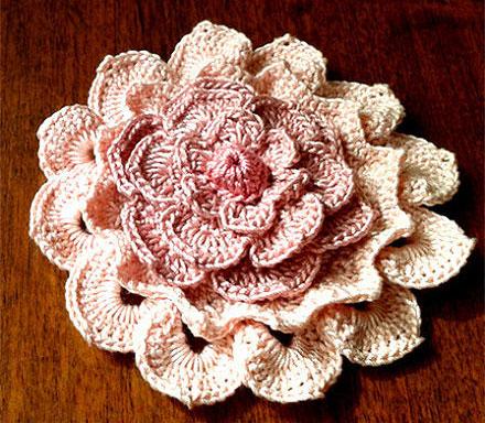 Big Textured Crochet Flower Crochet Kingdom
