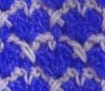 Blue and White Hearts Stitch Crochet