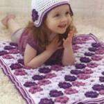 Bobble Flower Blankie Crochet Pattern