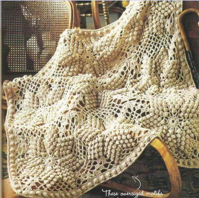 Bobbled Star Crochet Afghan Crochet Kingdom