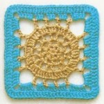 Circle in a Square Crochet Motif