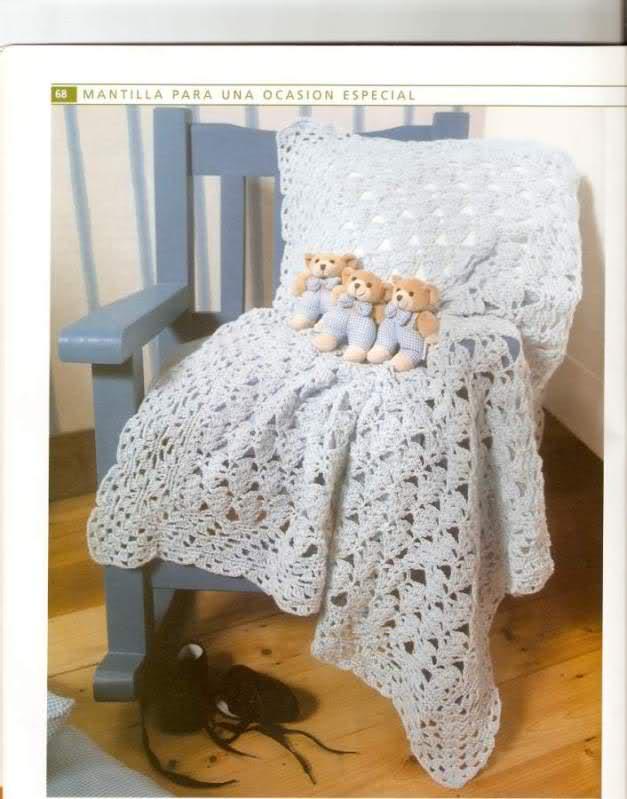 Classic Crochet Baby Blanket ⋆ Crochet Kingdom